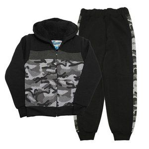 Big Boys Sherpa-Lined Hoodie and Fleece Jogger Set